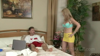 Enticing Stepson To Cleanup