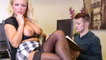 Milf forces young cock to fuck her wet pussy