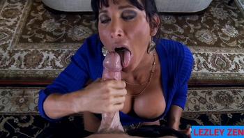 Unfaithful Wife Lezley Zen Spoils Dick with Thick Spit