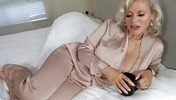 Mature blond lady