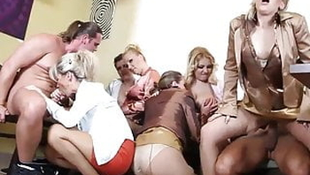 Part 1 - 5 Mature Women Get Pounded In Wild Group Sex Orgy