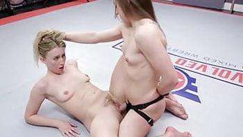 Cheyenne Jewel Nude Wrestling vs Riley Reyes Getting Rough