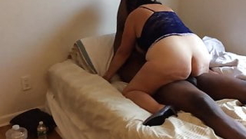 She can't get enough BBC and hubby provides.