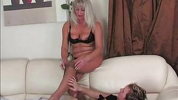 sand pantyhose of lustful 51-year-old grandma Elena