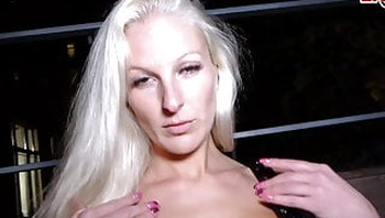 German Blonde slut public pick up at Berlin - EROCOM DATE
