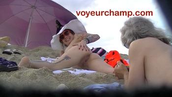 VoyeurChamp.com - Exhibitionist Wife Mrs Ginary Nude Beach!