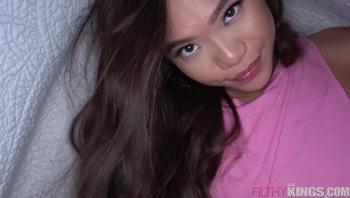 Hot Asian Sister Fucks Big Dick Brother in Pillow Fort