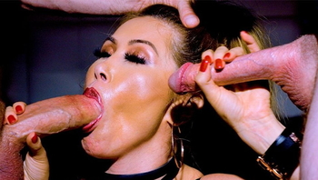 Sizzling Kianna Dior Swallows Two Thick White Dongs